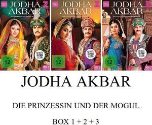 Jodha-Akbar-Die-Prinzessin-und-der-Mogul-Box-1-2-3-3x3-DVD-NEU-OVP