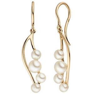 Hook-Earrings-Earrings-Drop-With-8-Freshwater-Pearl-585-Gold-Rose