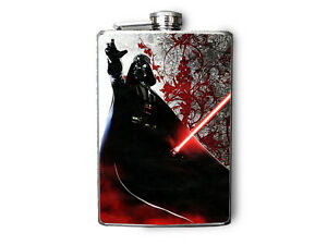 Darth Vader Inspired Stainless Steel Flask 8oz. - FN202
