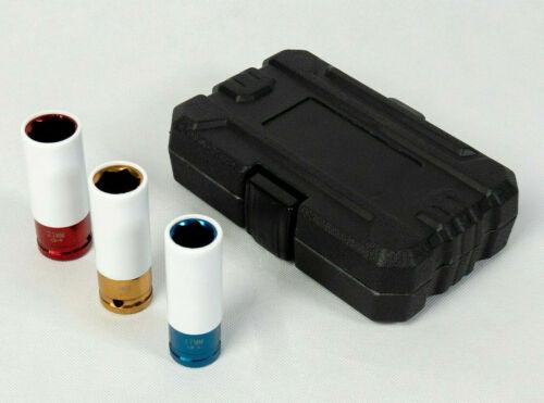 Schoneinsätze 1//2 Zoll für Radmuttern ALU-Felgen 17-19-21mm Nuss f Drehmoment