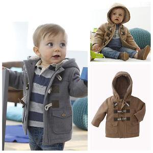 a081c7067 Baby Boys Toggle Coat Windbreaker Kids Outerwear Winter Jacket ...