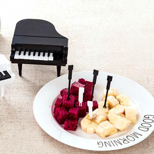 Petit piano style Fruit Fork Eco-Friendly Plastique Fourchettes à Dessert Vaisselle Set