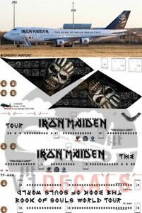 V1 Decals Boeing 747-400 Iron Maiden for 1/200 Hasegawa Model Airplane Kit