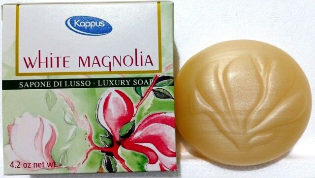 Kappus Luxury bar Soap White Magnolia PinkRose Orange Hibiscus Lillyof theValley