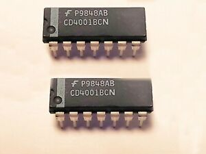 2x on semiconductor mc74hc08an quad 2-input and gate//4 positions enclos IC dip-14