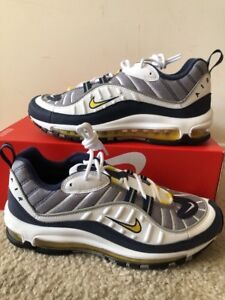 Details about Nike Air Max 98 OG Mens Size 14 Shoes Tour Yellow White 640744 105 Navy