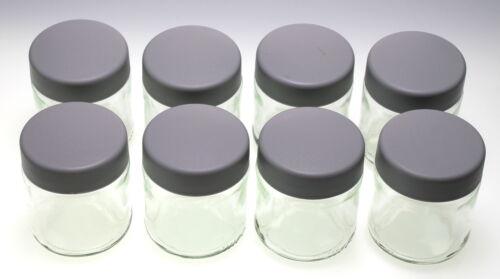 Severin 3517000 eg3517 8x Ersatzglas avec couvercle gris pour jg3516 Yaourt-Fix