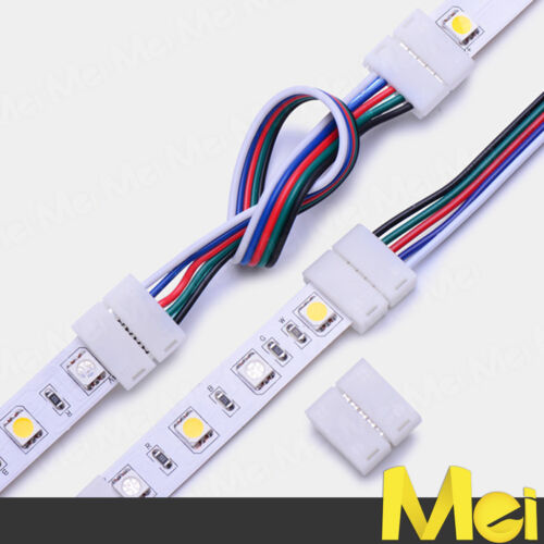 R066 connettore DOPPIO per striscia LED RGBW o RGB+W 12mm IP20 ULTRA RAPIDO