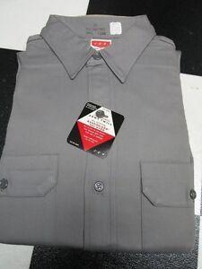 manga Grey larga de Hombres 16 Twill 50 los años Jcpenney Army Camisa Button Up W3442 Sanforized de BqzSzv