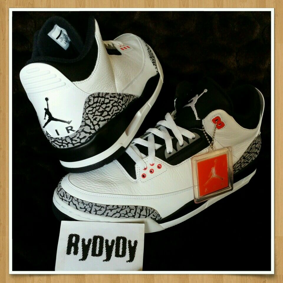 Nike Air Jordan 3 Infrared Sz 12 Black Cement True Blue Slam Dunk Concord 11 XI