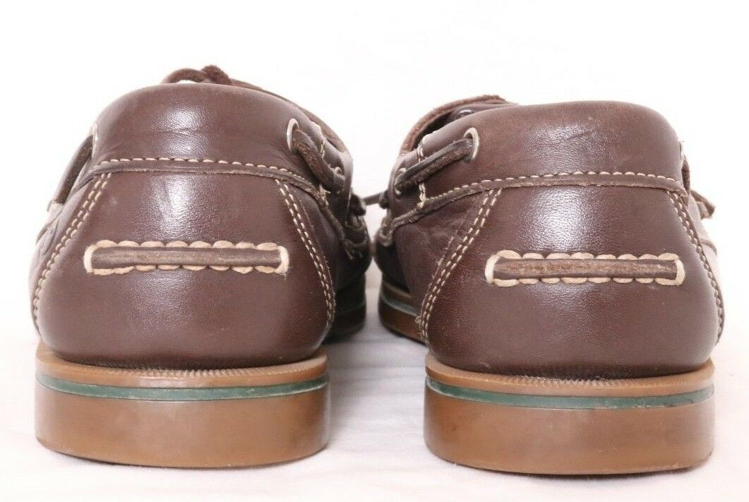 Rockport APM26644 Bridgeport Brown Leather Moc Tie Boat Men's Loafer Men's Boat US 10M 244c3a