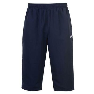 2019 Moda Mens Navy Blue Slazenger 3/4 Lunghezza Tre Quarti Pantaloni Tuta Pantaloncini Essere Romanzo Nel Design