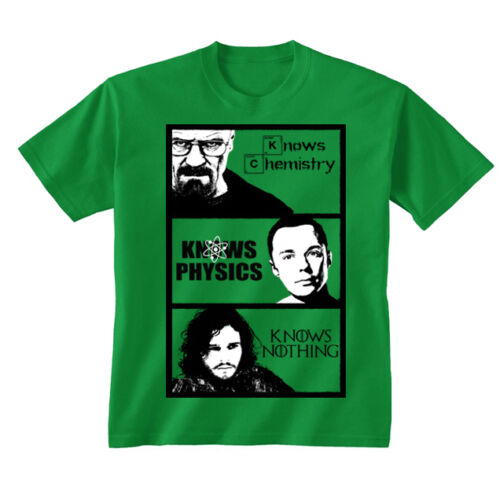 Kids Childrens Breaking Bad vs Big Bang Theory vs Game of Thrones T-shirt 5-13