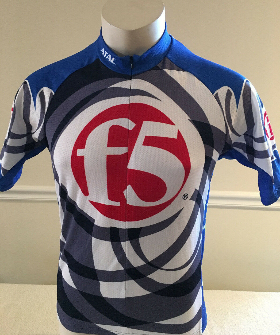 F5 Networks bluee Cycling Jersey Atac Sportswear Men's Size Small