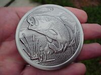 Bass Snuff Can Lid Copenhagen Pewter Color-new