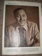 Photo article playwright Tennessee Williams 1949 ref K
