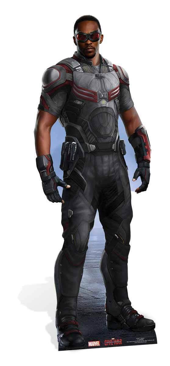 Falcon Marvel lebensechte Größe Pappfigur Aufsteller   Avengers Civil War   Feine Verarbeitung    Exquisite (in) Verarbeitung