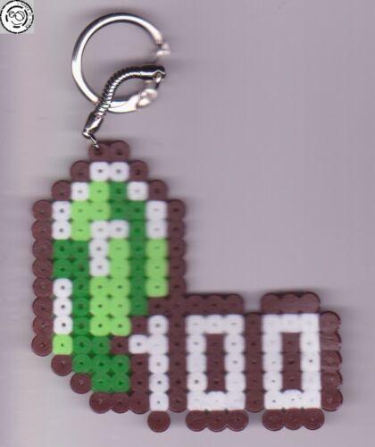 Bead sprite perler pixel art Item Zelda gem Porte-clé Perles à repasser