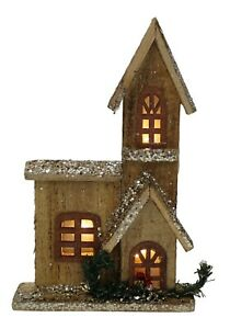 30cm-Tall-Wooden-House-WIth-10-Led-Lights-Glittered-Christmas-Ornament