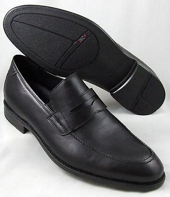 154831 MFT50 Mens Shoes Johnston Murphy XC4 Black Leather  Penny Loafer 10.5 M