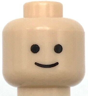 ☀️NEW Lego Minifigure Head Moustache Pointed with Standard Grin