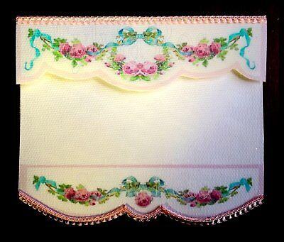 Pretty Bianco Rosa Floreale Cieco/tenda/drappo Per Dolls House-da Sylvia Rose-mostra Il Titolo Originale Per Prevenire E Curare Le Malattie