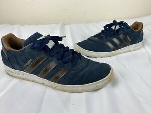 Details about Adidas Etrusco Sneakers Blue Suede Brown Stipes 10 Mens Low Top Shoes sneakers