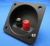 Speaker TERMINAL Plate With 2x Gold Binding Post Banana Plug Connector K652
