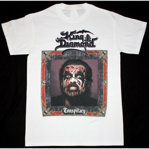 NEW-KING-DIAMOND-CONSPIRACY-WHITE-T-SHIRT-MERCYFUL-FATE-HEAVY-METAL-BAND-LL076