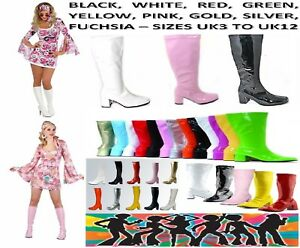NEW-LADIES-WOMENS-VINTAGE-FANCY-DRESS-PARTY-GO-GO-BOOTS-60s-70s-RETRO-SIZES-3-12