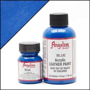 Angelus Blau (040) Acryl Lederfarbe 29,5ml (20,17€/100ml) Leder Tasche Pumps