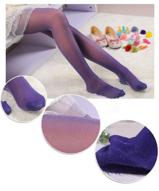 Shiny Women Tights Sparkle Night Party Silver Glitter Sexy Stockings Pantyhose