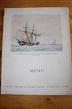 "PAQUEBOTS Menu de Petit déjeuner ""LIBERTE"" vers 1950"