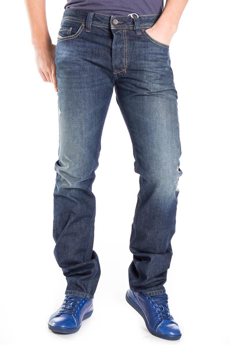 NEW 169 DIESEL W38 L32 Men's SAFADO 0RP13 Distressed Faded Straight Jeans