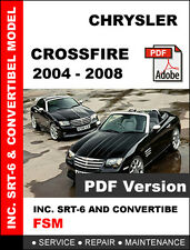 2004 - 2008 CHRYSLER CROSSFIRE SRT6 COUPE CONVERTIBLE SERVICE REPAIR MANUAL