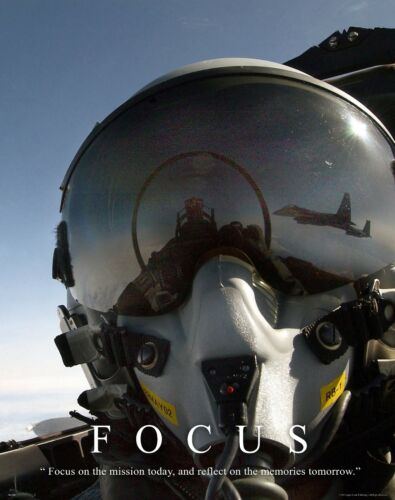 US Military Motivational Poster Art Navy Air Force Jets Soldier Academy  MILT28