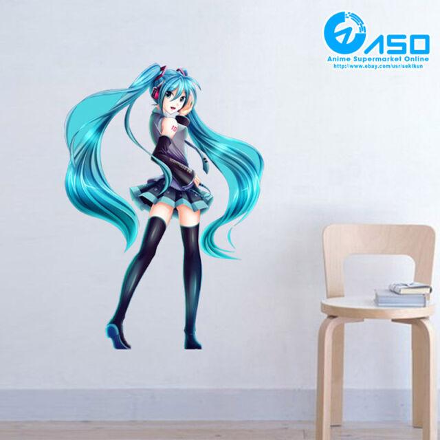 Anime Girl Manga Smashed 3D Wall Decal Sticker Mural Room Art Decor Vinyl DA138