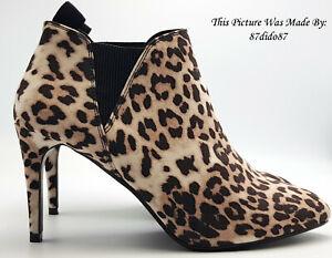 Next-Leopard-Animal-Print-Pixie-Chelsea-High-Top-Boots-Stilleto-Heels-Shoes