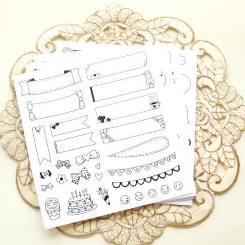 12 Sheets Kawaii Calendar Photo Paper Sticker Scrapbook Diary Planner