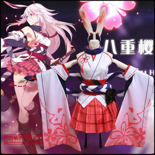 Anime MmiHoYo 3 Yae Sakura Halloween Costume Cosplay Sets Outfit Party Gift