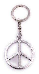 Signo-de-Paz-Signo-de-la-Paz-Llavero-Colgante-Plata-de-Metal