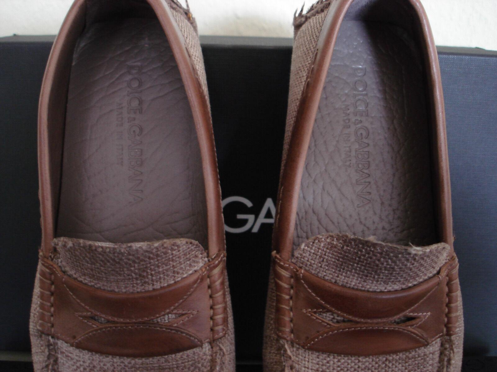 Dolce & Gabbana Schuhe Mokassin Herren 40 bzw. 6 Neu Top!