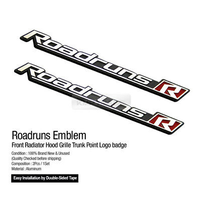 Side Front Trunk Mini Emblem Point Logo Badge Black for HYUNDAI 06-11 Azera TG