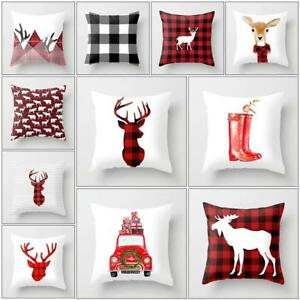Christmas-Elk-Cotton-Linen-Throw-Pillow-Case-Car-Sofa-Home-Decor-Cushion-Cover