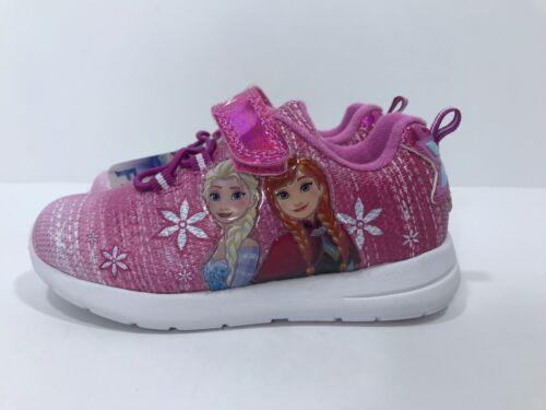 Disney Frozen Rose Light Up Bébé//Bambin Chaussures//Baskets Tailles Multiples NEUF!