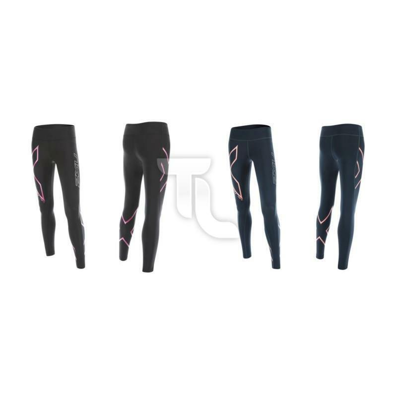 2xu hyoptik Mid-rise Compression Tights wa4169 Corsa Pantaloni Nuovo Donna