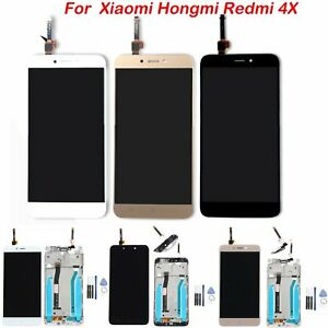 For-Xiaomi-Redmi-4X-Glass-LCD-Display-Digitizer-Full-Touch-Screen-Assembly-Frame