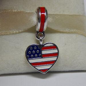 Pandora 791548ENMX US Heart Flag Charm PFGPowFVXB