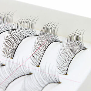10Pairs Fashion Makeup Handmade Natural Long False Eyelashes Eye Lashes hot new