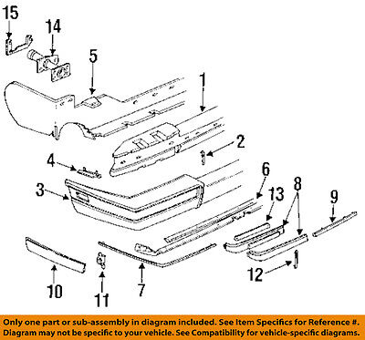 Cadillac GM OEM 86-91 Seville Bumper Trim Reflector Left 16508661 87 88 90 91